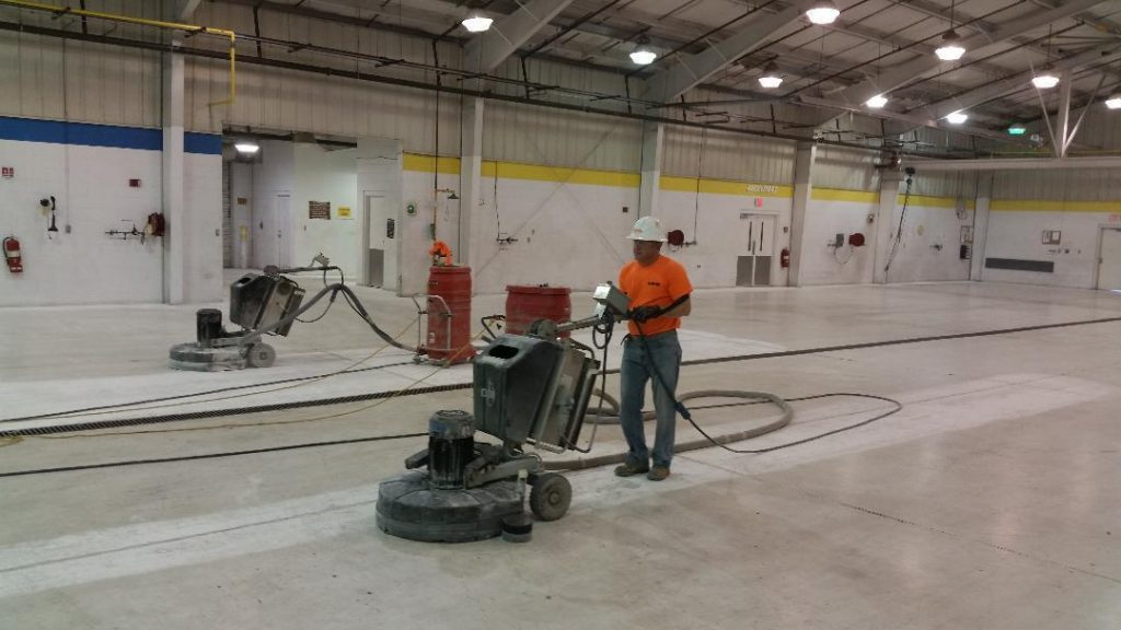 State of the art surface preparation equipment for concrete floors using Diamond Grinding